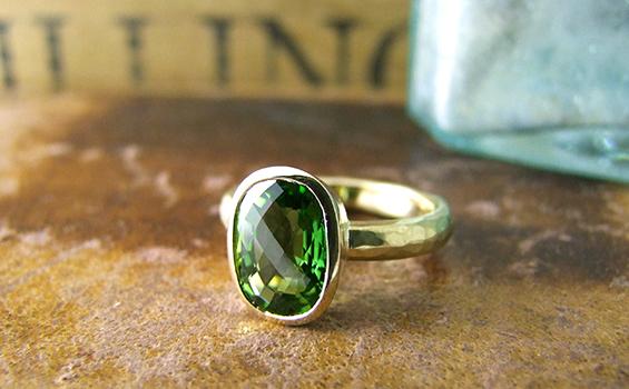 Green Tourmaline 18ct ring565x350