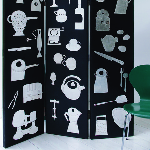 Leather - Sue Lowday - screen in kitchen