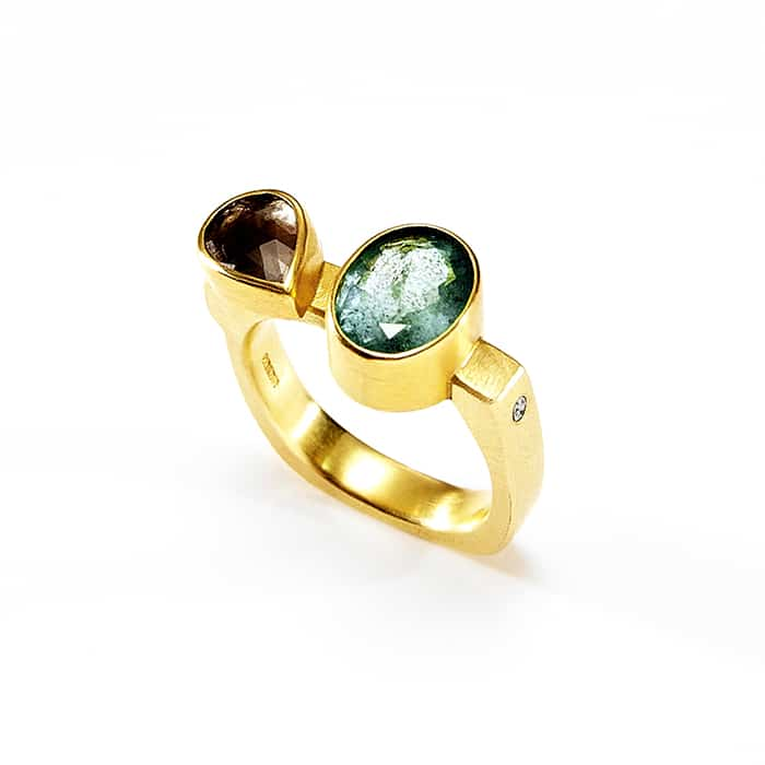 Jewellery - Tanja Ufer - Emerald Diamond ring