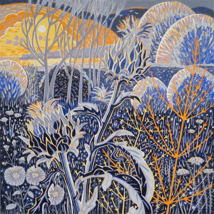 Printmarking - Annie Soudain - Garden, winter