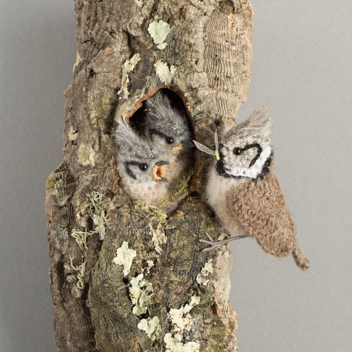 Textiles - Jose Heroys - Crested tit nest