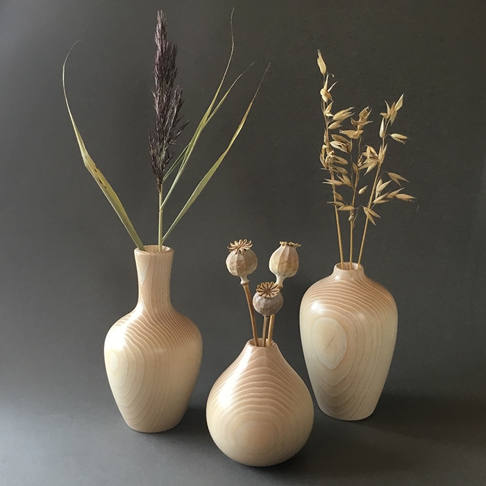 Woodturning Anna Cates Weed Pots