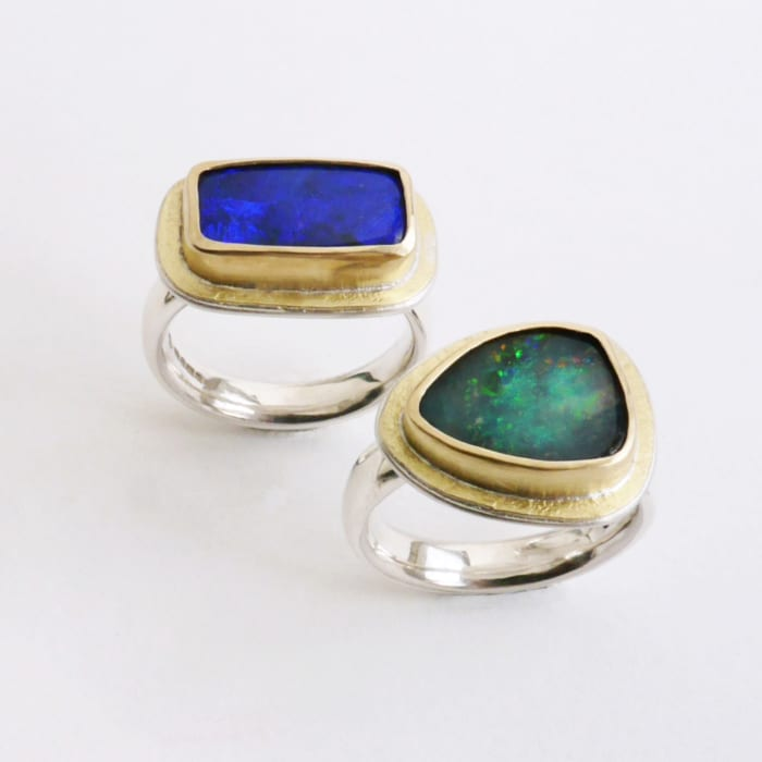 Jewellery -Naomi James - Australian opal rings