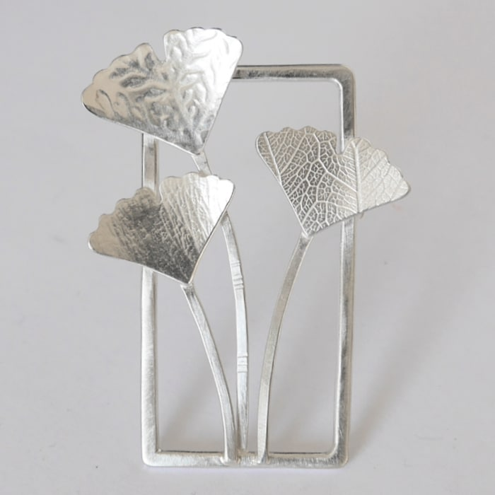 Jewellery - Naomi James - ginkgo brooch