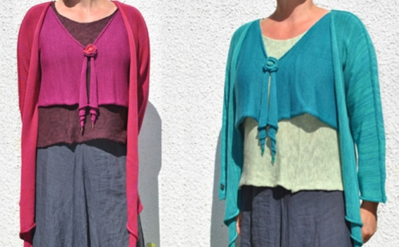 Knitwear - Sophie Cadogan - 2Coils Blue and Magenta