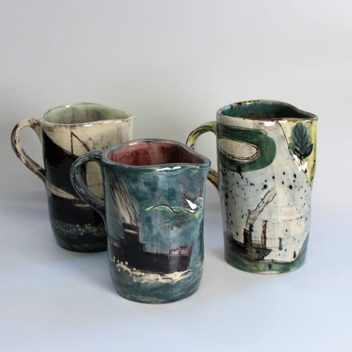 Ceramics - Anne Barrell - A Flotilla of Jugs