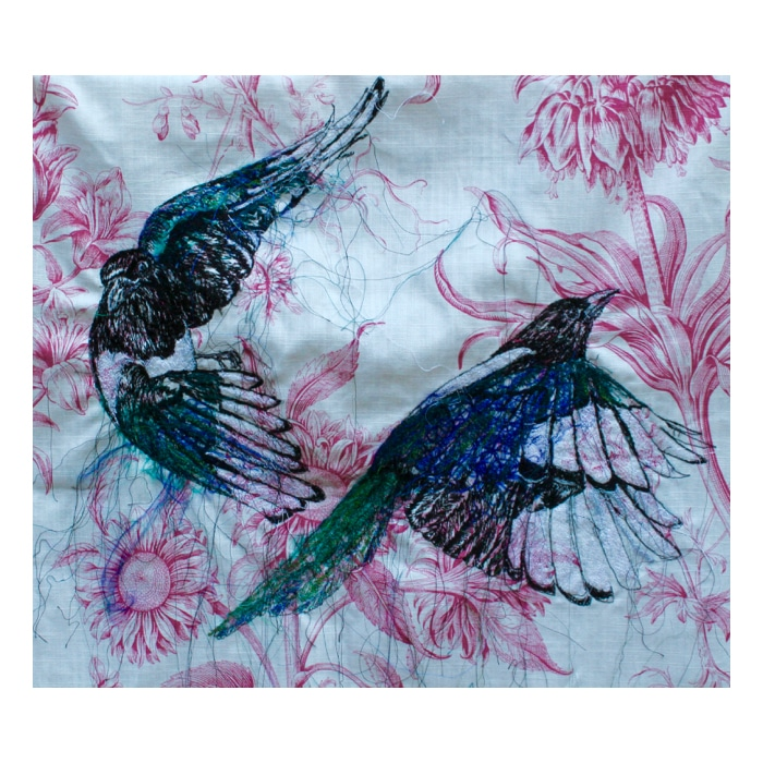 Textiles - Julie French - Magpies