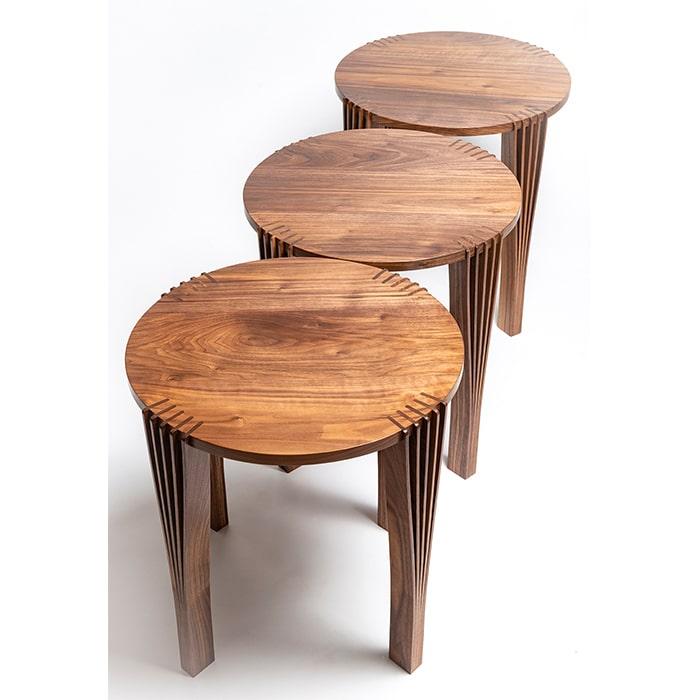 Wood - Andrew Hauge - stools