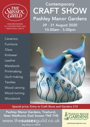 Pashley Manor Gardens Contemporary Craft Show August 2020