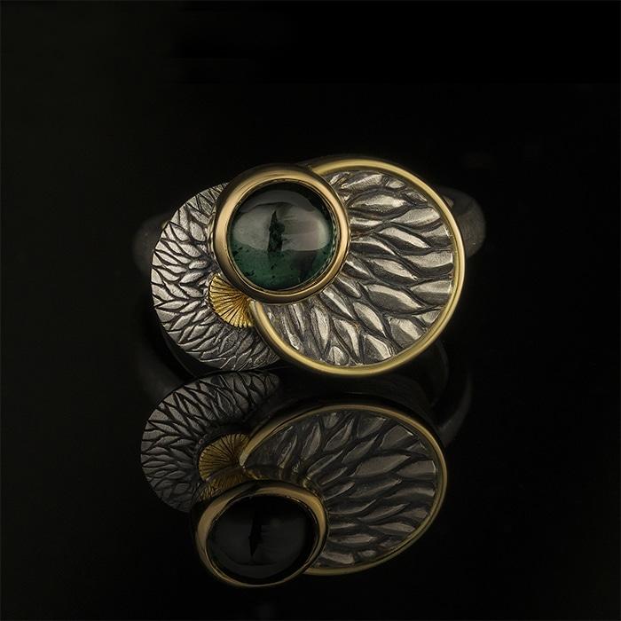 Jewellery - Sylvaine & Marek - Green Tourmaline Layer Ring
