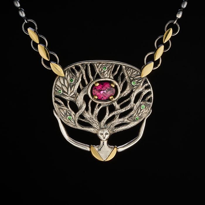 Jewellery - Sylvaine & Marek -Roots Goddess Garnets
