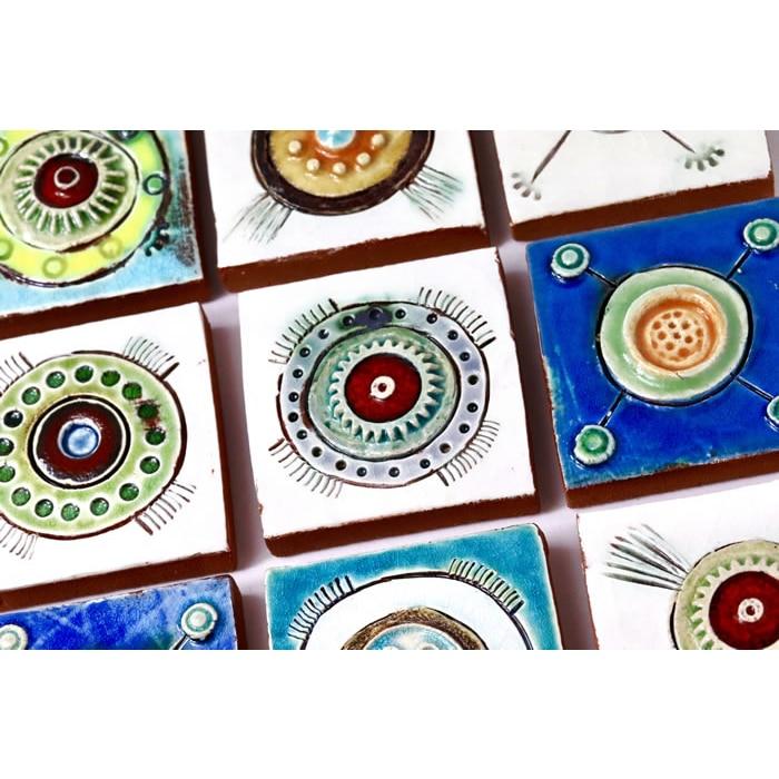 Ceramics - Angela Evans - Amoebae tiles