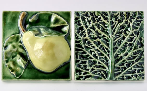 Ceramics - Angela Evans - Fruit and Vegetable Tiles
