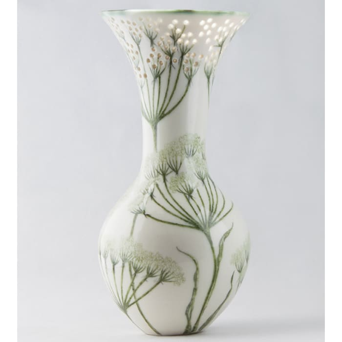 Ceramics - Justine Munson - Cow Parsley vase