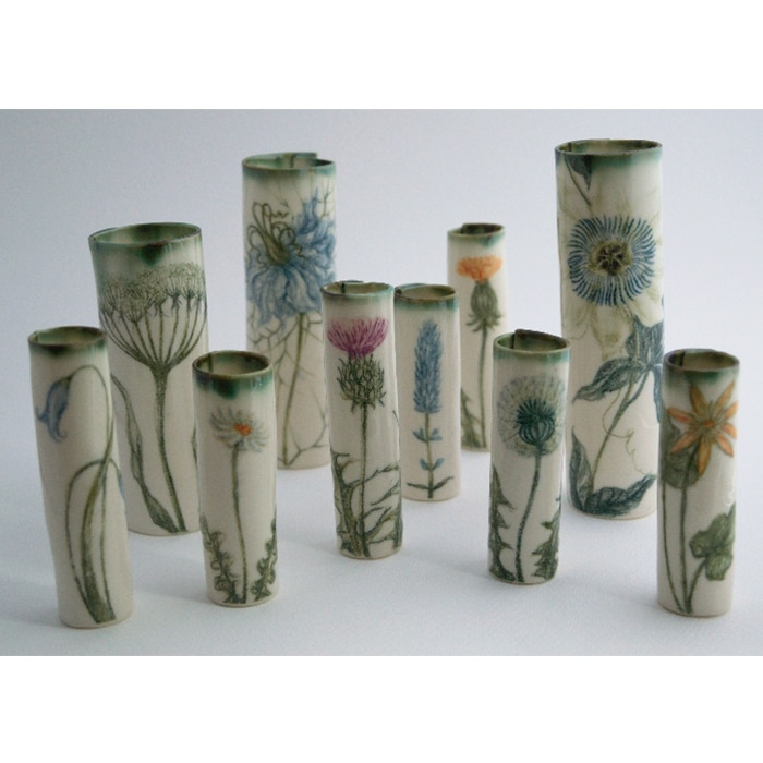 Ceramics - Justine Munson - a collection of bud vases
