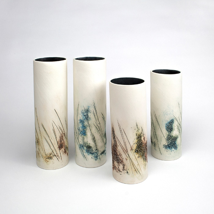 Ceramics - Tessa Wolfe Murray - Journey Slipcast cylinders