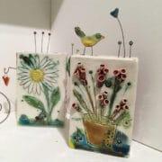 Ceramics_Angela_Evans_Tile_blocks_flowers