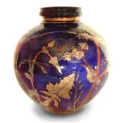 Ceramics_Jonathan_Chiswell_Jones_blue_and-gold_vase