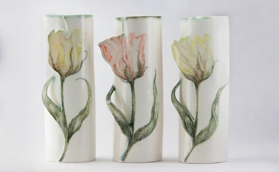 Ceramics_Justine_ Munson_Tulip vases