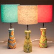 Ceramics_Lisa_Katzenstein_maiolica_lamp_bases_with_shades