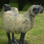 Ceramics_Jon_Barrett_Danes_one_ ram_ and_one_sheep