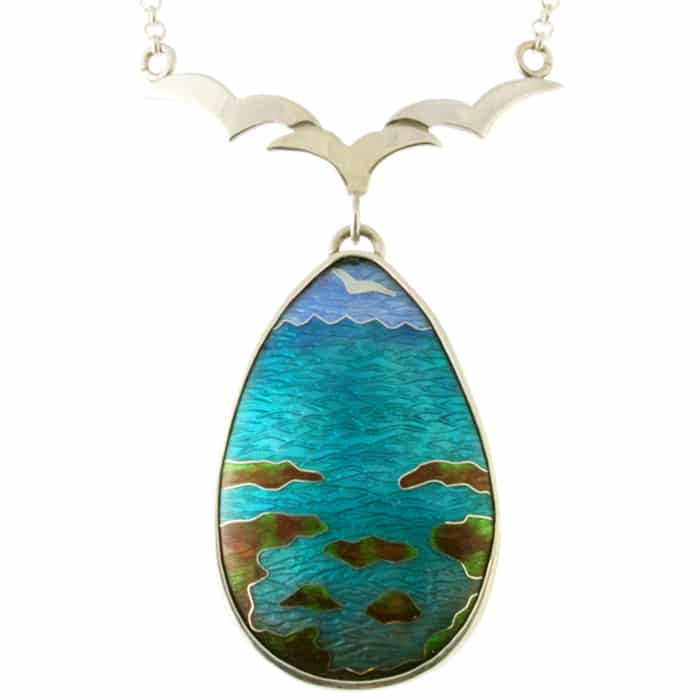Jewellery - Linda Connelly - Seaside Necklace with Seagulls