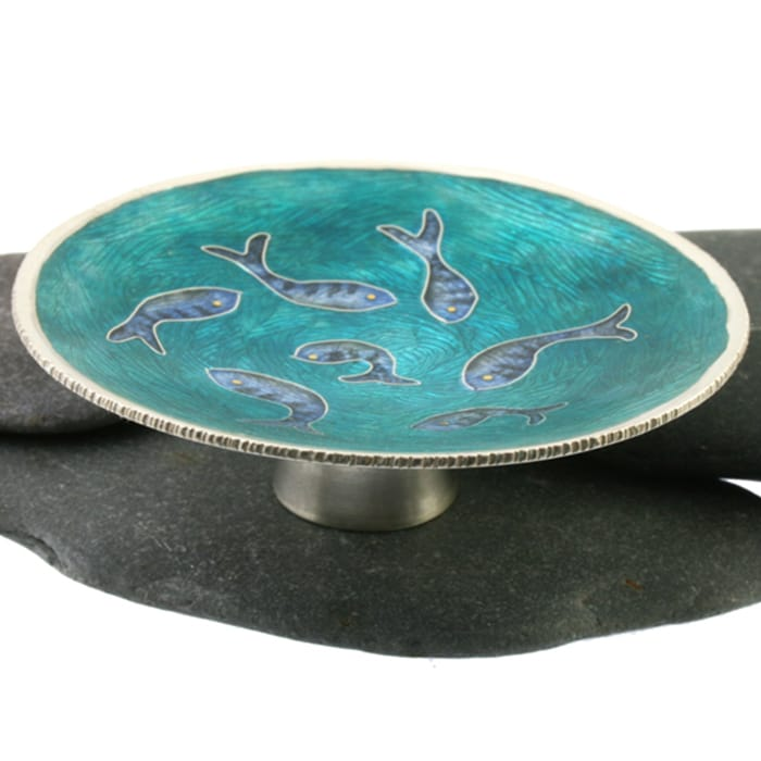 Jewellery - Linda Connelly - cloisonne Fishy Dishy ote