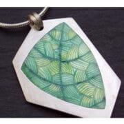 Jewellery_Anna_Clark_silver_enamel_Leaf_Pendant