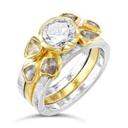 Jewellery_Pruden_and_Smith_1ct_rough_diamond_stacking_rings
