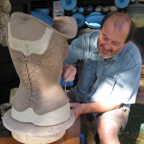 Ceramics - John Warre - Torso decoration demo