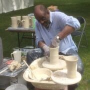 Ceramics - Mohamed Hamid - potter wheel demo