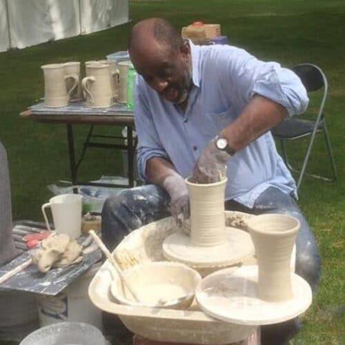 Ceramics - Mohamed Hamid - potter wheel demo