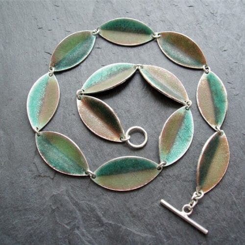 Jewellery - Anna Clark - silver enamel necklace