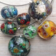 Jewellery - Annie McCabe - glass pendants detail