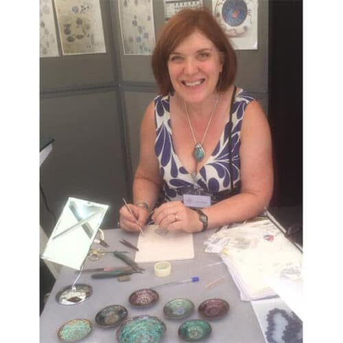Jewellery - Linda Connelly - enamelling demo
