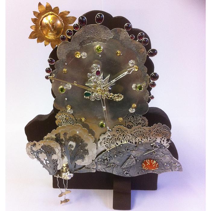 Jewellery - Nigel Graham - Clock Trees Landscape with semi-precious stones