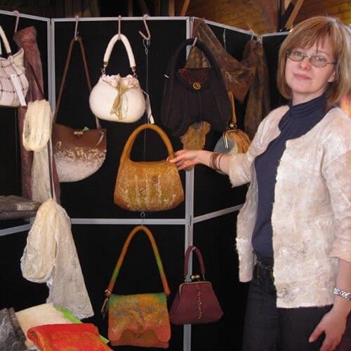 Textiles - Natali Stewart - bags felt display