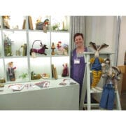 Textiles - Sarah Dudley - collectable toys stand