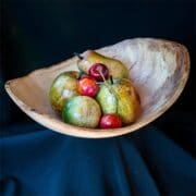 Wood - Dennis Hales - oval fruit bowl - guest exhibitor