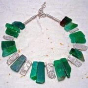 Jewellery - Bee Sanderson - Green Crystal Collar