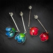 Jewellery - Lorriane Gibby - red & green aluminium earrings