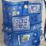 Textiles - Aline Trott - blue bag