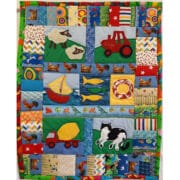 Textiles - Louise Bell - Farmyard and Baby Quilt