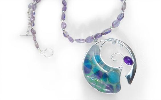 Jewellery Jo Perason Amethyst Spiral Pebble