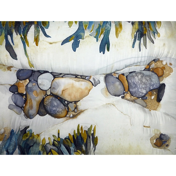 Textiles - Diane Rogers - Rock pool Channel with Seaweed