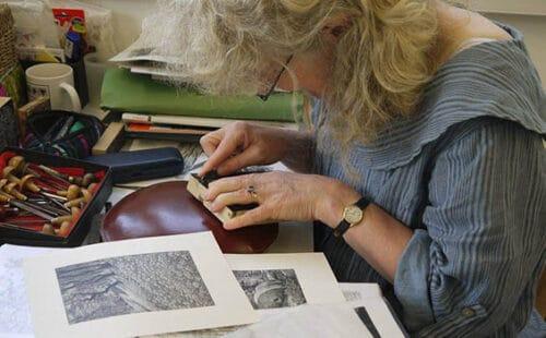Sue Scullard - Wood Engraving