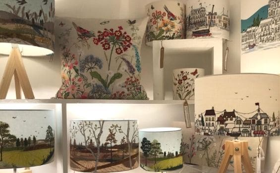 Guild-Shop-Interior-Textiles-Lara-Sparks-Embroidered-Lampshades-and-Cushions