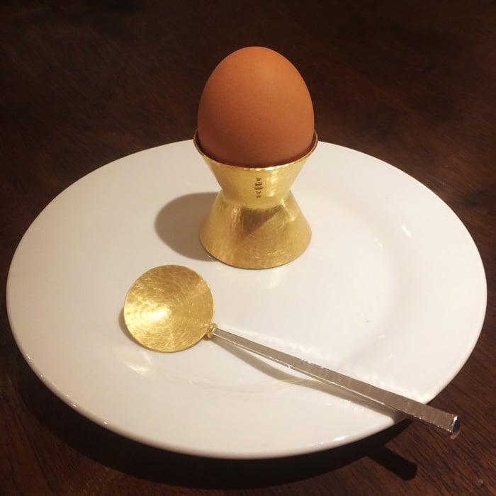 Jewellery-Silversmith-Stuart-Jenkins-Gold-Plated-Egg-Cup