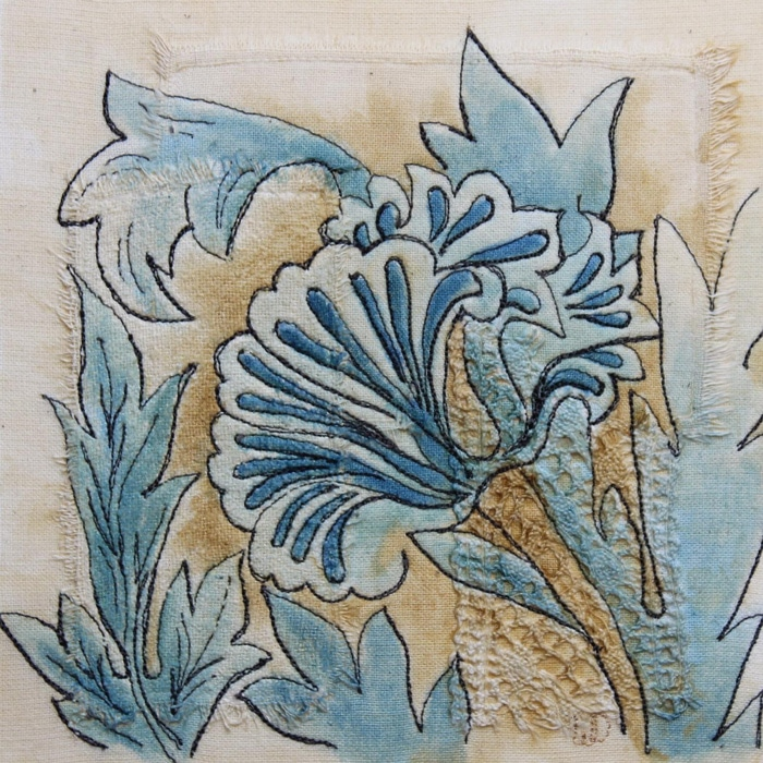 Textiles-Wendy-Dolan-stitched-textile-with-flowers